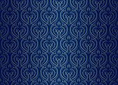 Seamless wallpaper pattern silver blue — Stock Vector