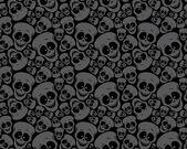 Cráneos de patrón de papel tapiz — Vector de stock