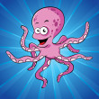 Funny cartoon octopus — Stock Vector