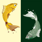 Two freshwater fish — Stock Vector