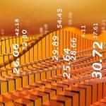 abstrakte Börse Diagramm orange — Stockfoto #7199272