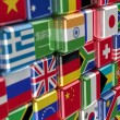 Royalty-Free Stock Photo: International flag-cubes