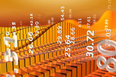 Abstract stock market chart orange — Stock Photo