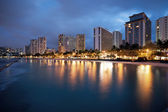 Waikiki at night — Stock Photo