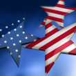 Stars as American flag — Stock Photo