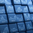 Stock Photo: Stock index cubes