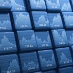 Stock index cubes — Stock Photo