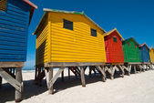 Colorful beach huts — Stock Photo