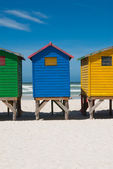 Beach huts near capetown — Stock Photo