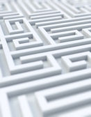 White maze - selective focus — Stock Photo
