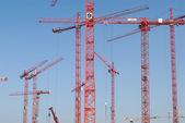 Construction Site with cranes — 图库照片