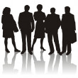 Stock Photo: Business Silhouettes