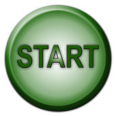 Separated Start Button — Stock Photo