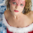 Christmas woman portrait — Stock Photo