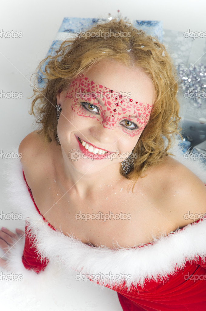Christmas woman portrait  — Stock Photo #7651977