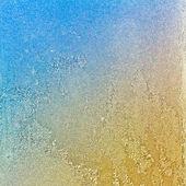 Eisblumen am Fenster Fantasy suchen — Stockfoto