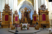 Interior of the Church of Bernardines' in Vilnius — Foto Stock