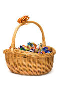 Basket of candies — Stock Photo