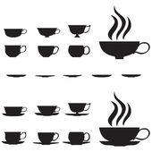 Small tea cups — Stock Vector