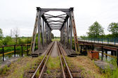 The iron railway bridge — Stock Photo