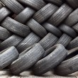 Stock Photo: Stacking of used tires