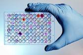 Ręka z mikropłytek — Zdjęcie stockowe