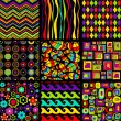 Vector seamless patterns. — Stockvektor