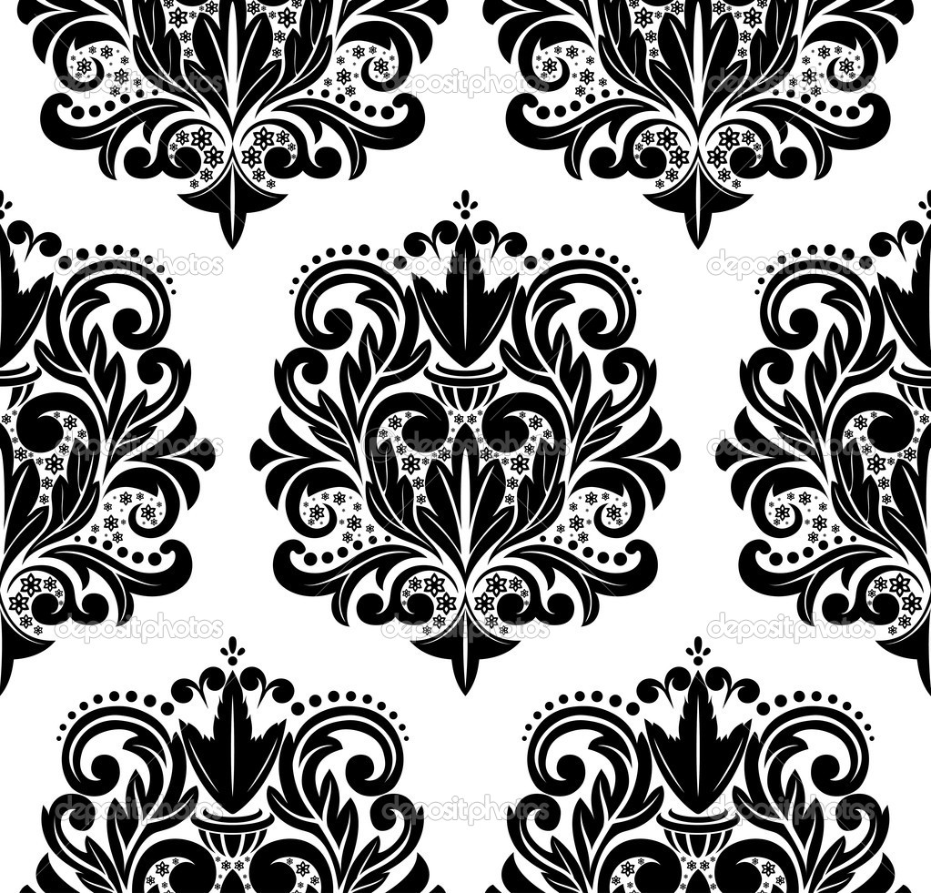 Damask pattern. — Stock Vector © Miloarts #7346910