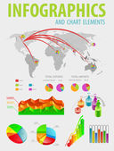 Infographic and charts elements. — Stock Vector