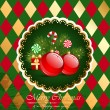 Christmas vintage. — Stock Vector #7629009