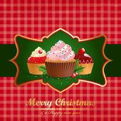 Vintage Christmas. — Stockvector