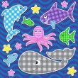 Marine animals — Vector de stock #7236049