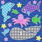 Marine animals — Stock Vector