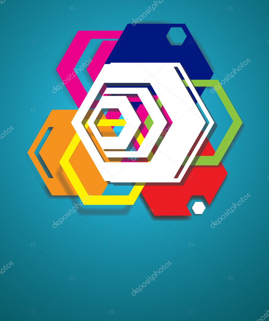 Colored abstract background. Vector illustration — Stock Vector #7285752