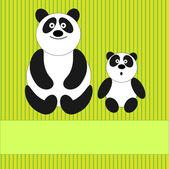 Family of pandas — Stock Vector