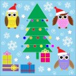 Royalty-Free Stock Vector Image: Christmas stickers