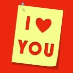 """Love you"" — Stock Vector"