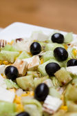 Salad with olives — Stock Photo