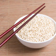 Chopstick in bowl — Stock Photo