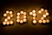 2012 in candles — Stock Photo