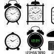 Stock Vector: Alarm clocks collection