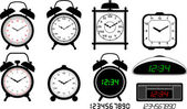 Alarm clocks collection — Stock Vector