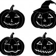 Royalty-Free Stock Vektorfiler: Halloween pumpkins