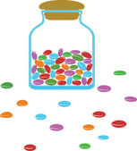 Candy jar — Stock Vector