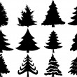 Royalty-Free Stock Vektorový obrázek: Christmas tree collection