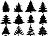 Christmas tree collection — Stock Vector