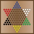 Stock Vector: Chinese checkers game board