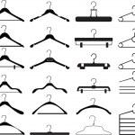 Clothes hanger collection — Stock Vector #7659403