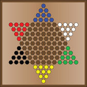 Chinese checkers game board — Vector de stock