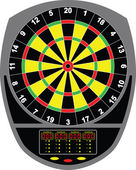Dartboard electronic — Stock Vector